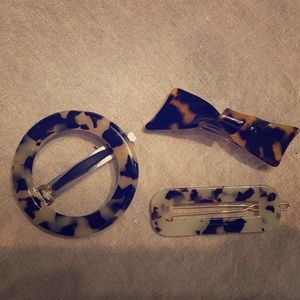 J. Crew Tortoise Shell Hair Clips